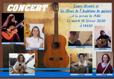 Affiche concert a la prison